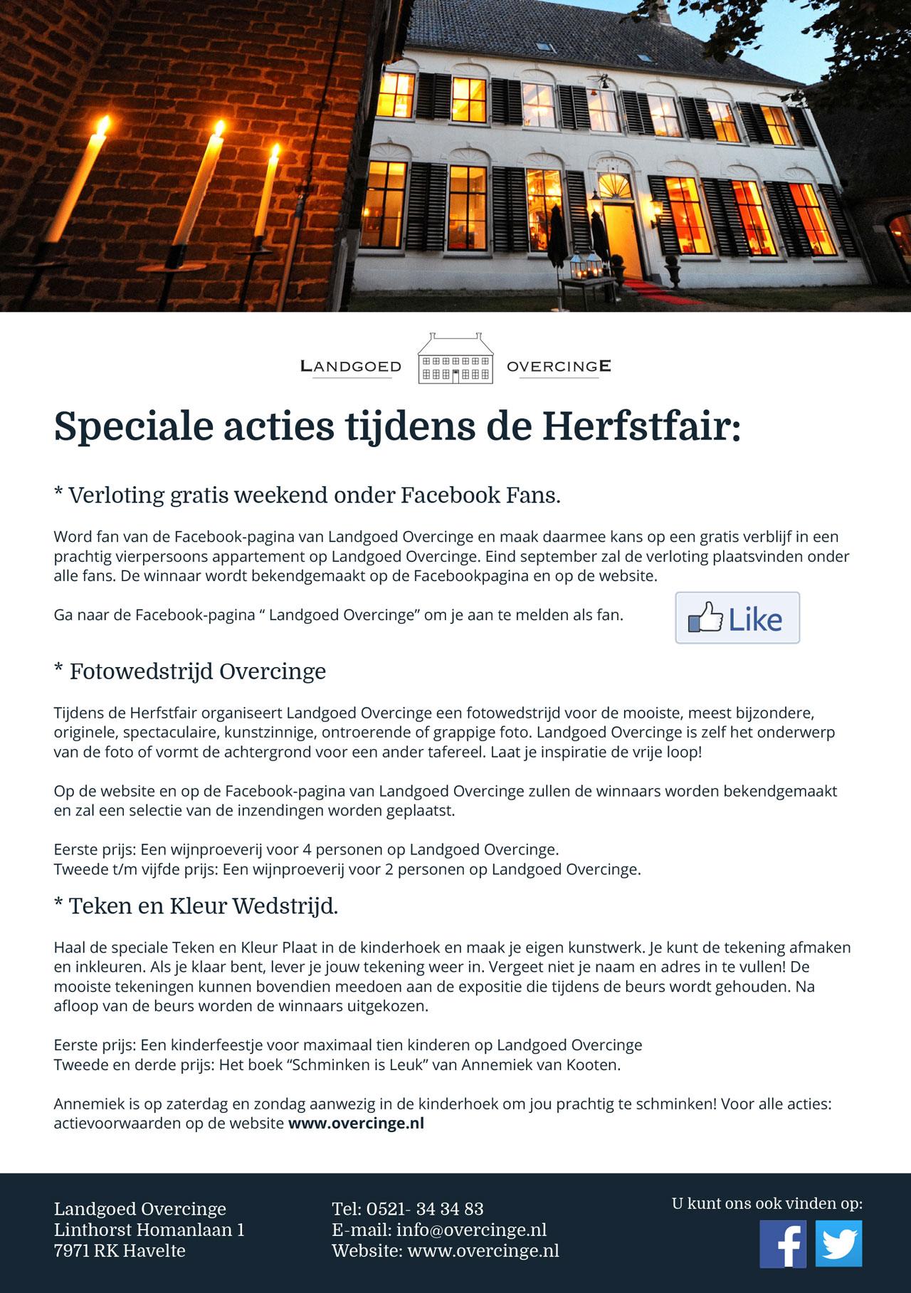Facebook actie Overcinge